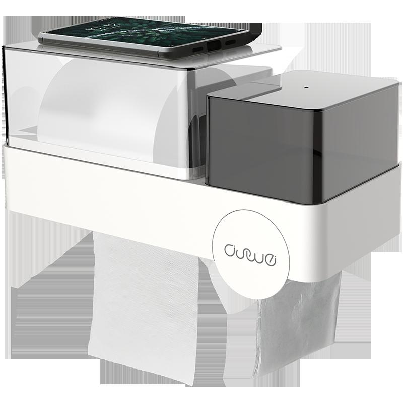 卫生间纸巾盒厕所免打孔卷纸筒抽纸创意家用防水厕纸卫生纸置物架