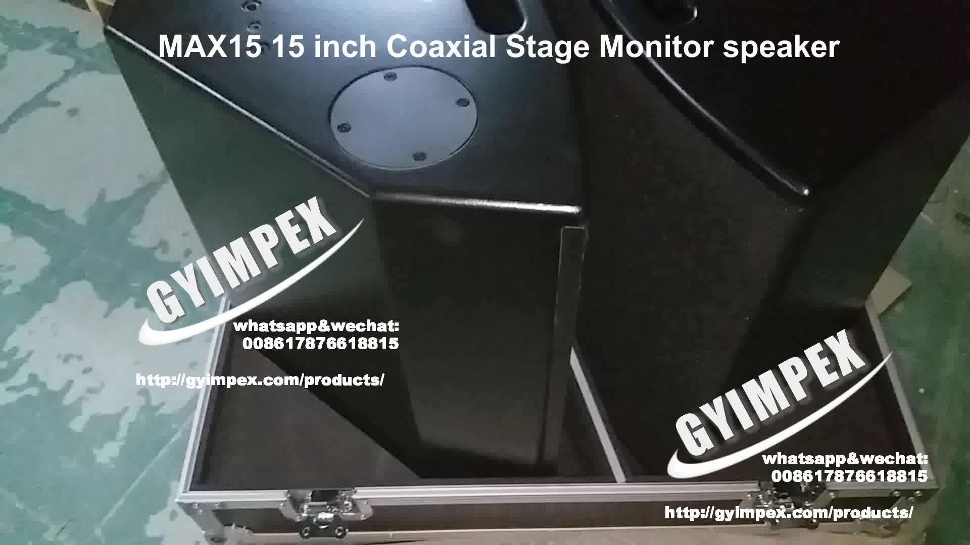 Großhandelschina factroy 15-Zoll-Bodenstudio-aktiver Monitorlautsprecher-Koaxialkasten MAX15