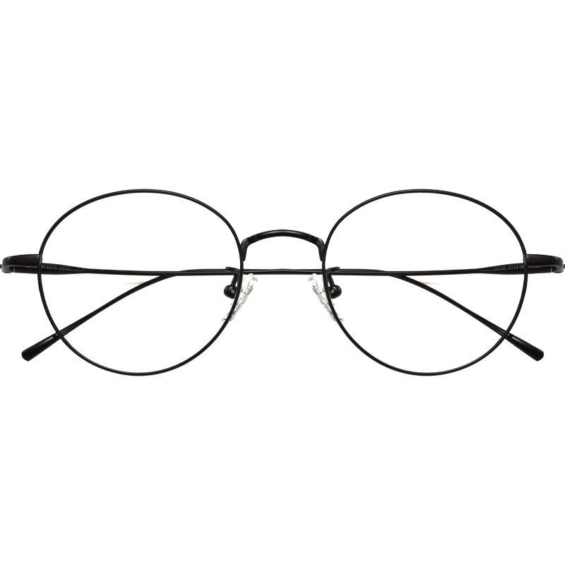 超轻纯钛圆框女网红款近视眼镜框好不好