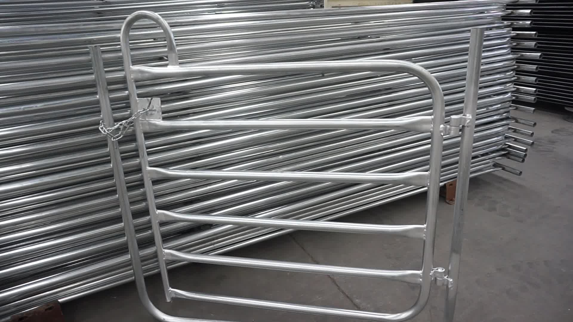 High quality Hot dip galvanized cattle fence / livestock fence panel (factory ) horse panel fence