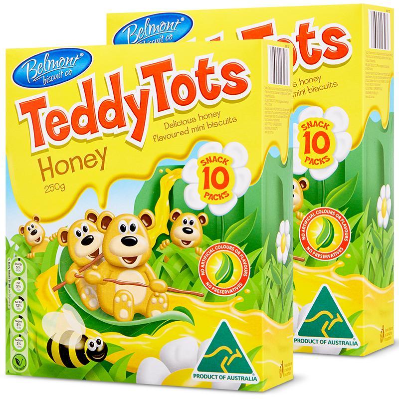 ALDI奥乐齐 澳洲进口Belmont Biscuit泰迪小熊蜂蜜饼干10袋*2_领取30.00元天猫超市优惠券