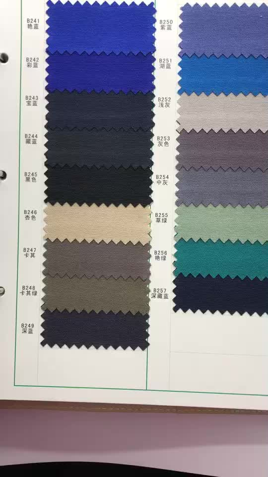 65% polyester 35% cotton ripstop woven fabric for police uniform