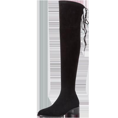 【沙驰】冬季新款套脚靴子过膝长筒靴
