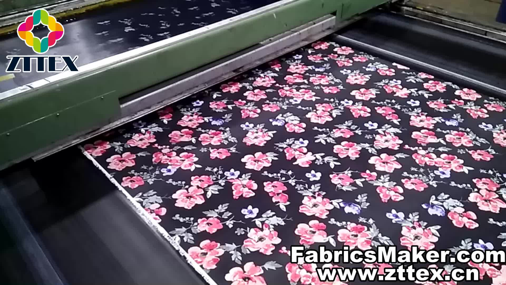 En gros personnalisé 100 coton couleur colorant popeline imprimée toile tissu de fournisseur de porcelaine