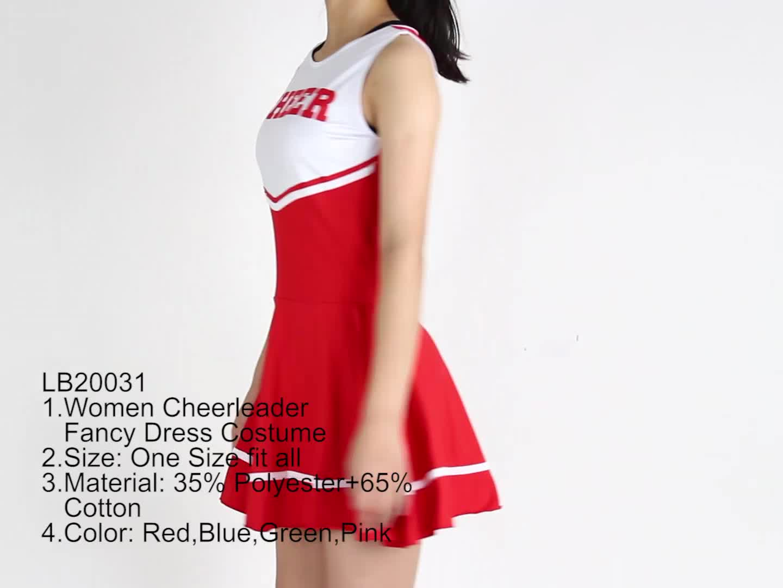 High Quality 5 Colours Women Halloween Glee Cheerleader Costume   Buy Glee  Cheerleader Costume,Cheerleader Costume Halloween,Costume Cheerleader ...