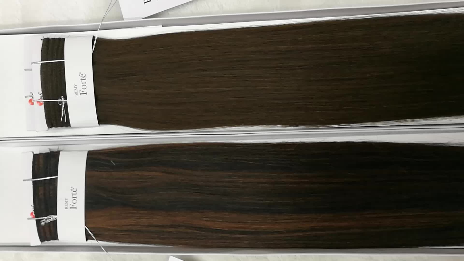 """Remy Forte 100% Hair Weave Double Drawn SINA 16"""" 4# and P1B/33 9a rebecca fashion noble remy hair"""