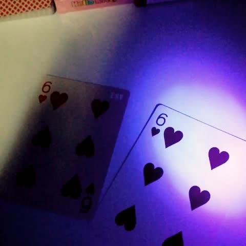 Espagnol Des Deux côtés CMYK plaques cartes à jouer avec LED blanc YH228