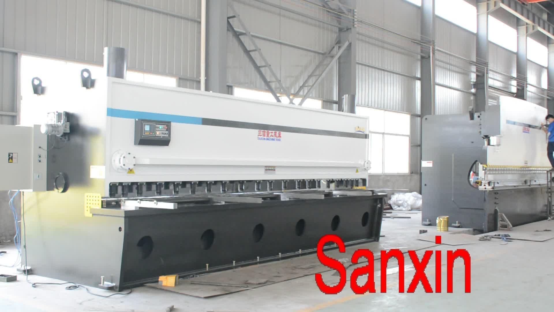 SXZG ألمانيا شنايدر E21 تحكم آلة المقصلة الكهربائية آلة القص الهيدروليكية QC11Y-12x4000 للبيع الفلبين