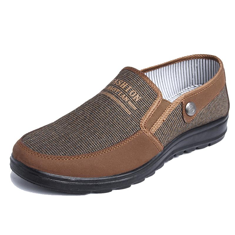 男士老北京布鞋旗舰店官方鞋子老年人穿的春季步鞋男式爸爸帆布鞋