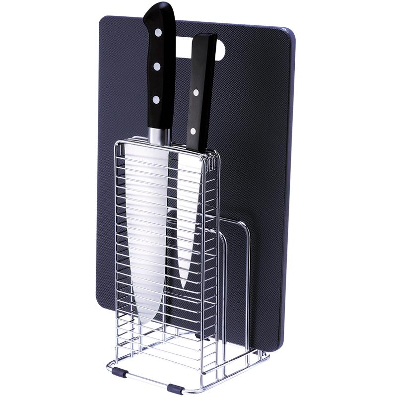 日本ASVEL砧板架刀架 家用厨房不锈钢收纳置物架刀座菜板刀具架子