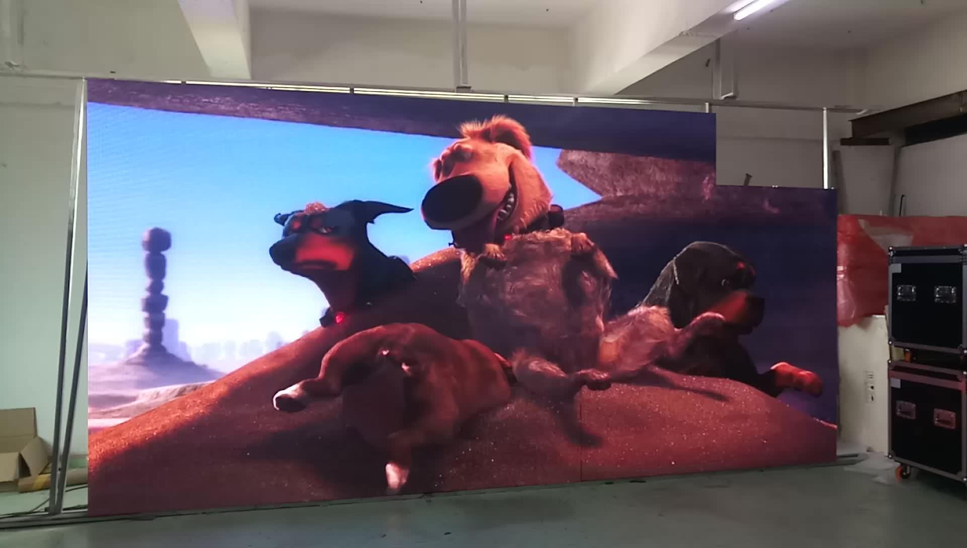 China videos led screen indoor p4.81 die casting aluminum cabinet price