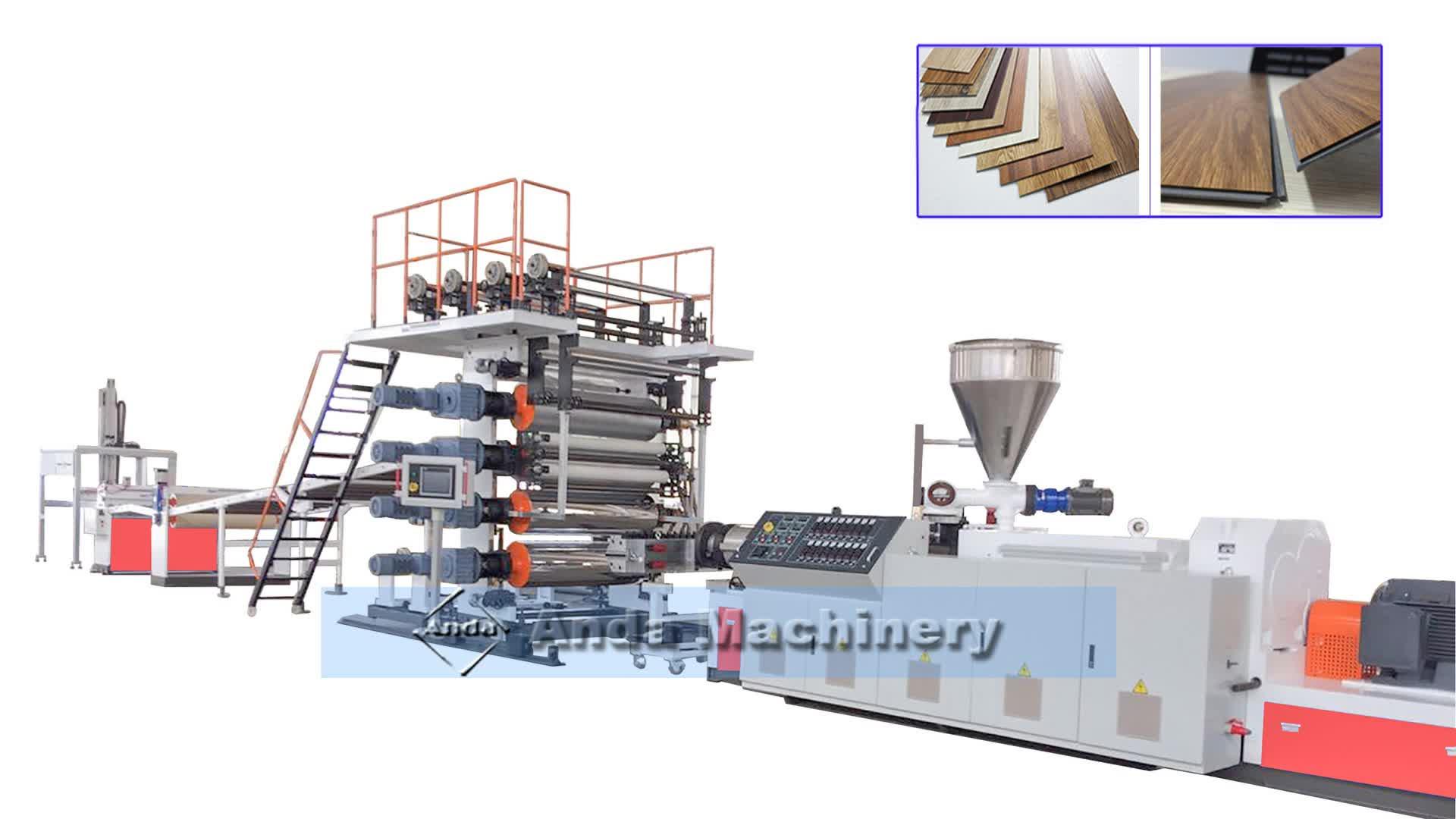 SPC floor productielijn