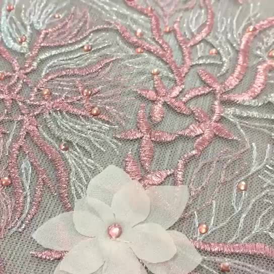 Top bead sequin special embroidered lace fabric beaded