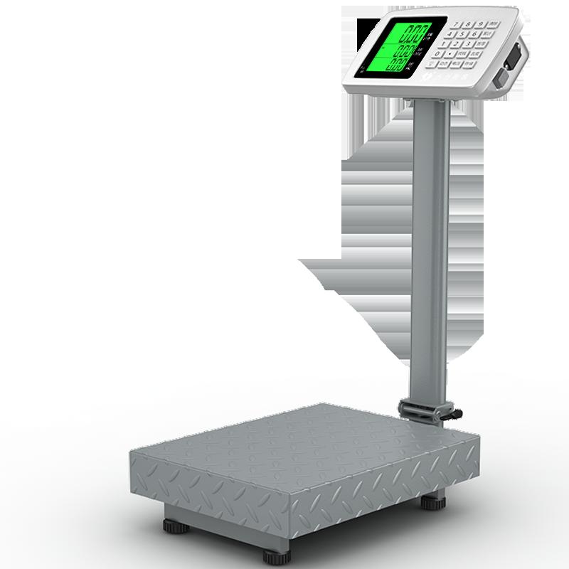 杰力电子孑称商用台秤精准0.01小型称重家用100kg150公斤快递磅秤