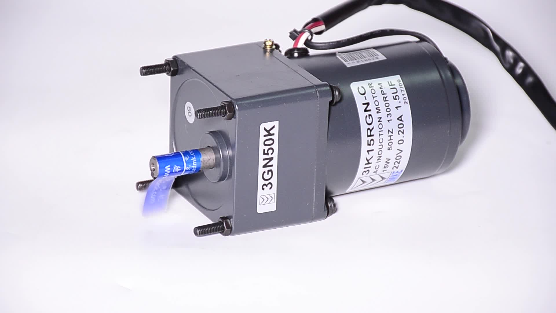1:3 TO 1:300rpm 220v 15w AC induction gear motor