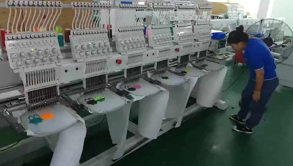 Order Germany Quality New Used Industrial Embroidery Machines For Sale / 6 Head Sewing ...