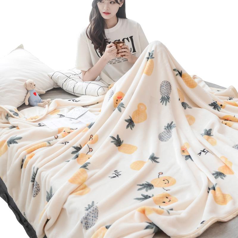 南极人法兰绒毛毯夏季单人薄款小毯子夏天珊瑚绒午睡空调毛巾被子