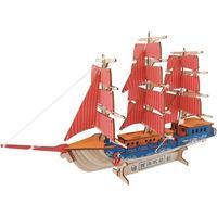 嘉兴南湖红船模型手工diy拼装摆件木质3d立体拼图积木制作玩具