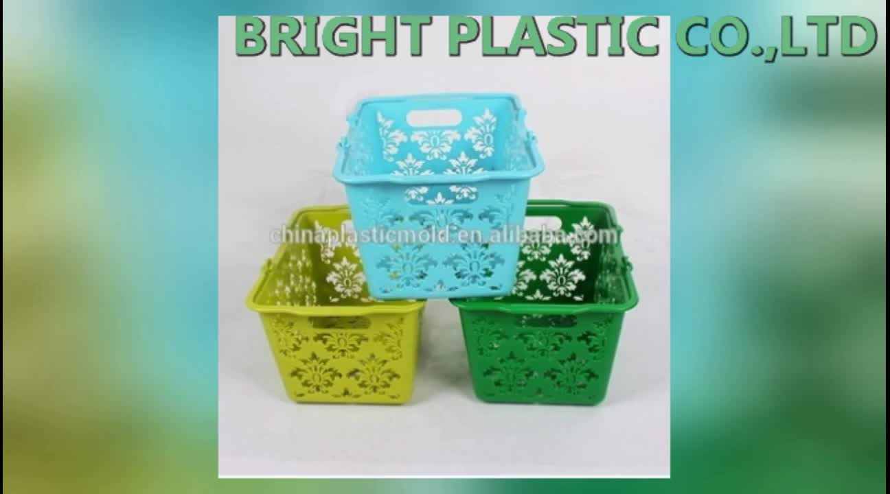 small plastic basket with handle