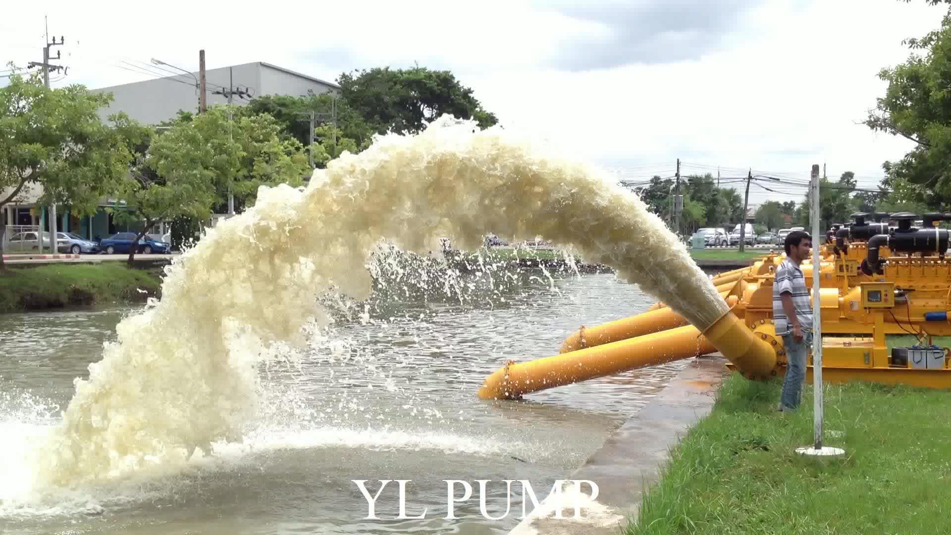 Dieselmotor hoge effciency Waterpomp dubbele zuigpomp