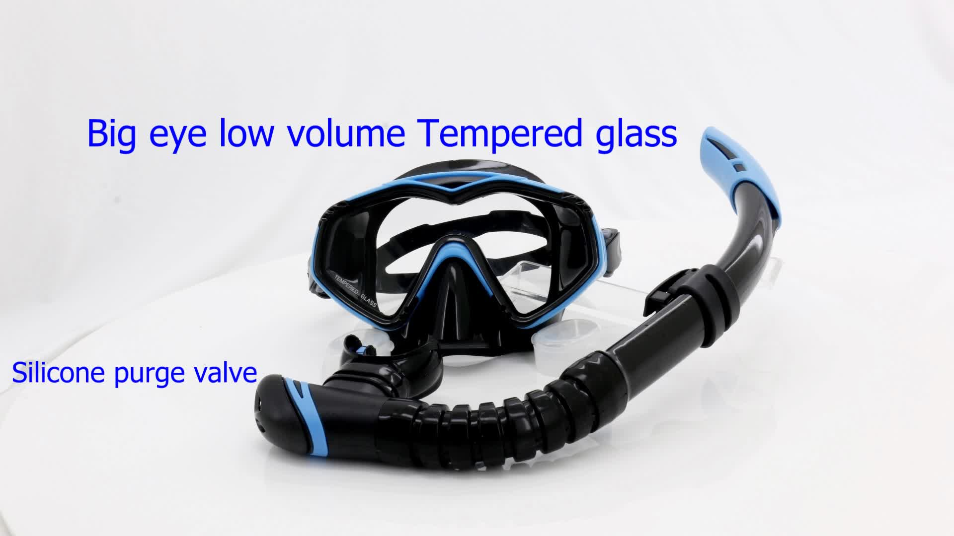 Wholesale Watersports Equipment Silicone Mask Snorkel