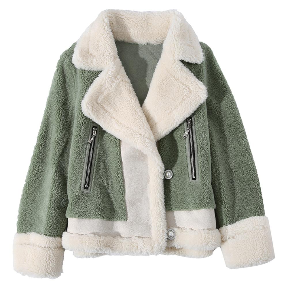 羊羔毛绒外套女装2021新款秋冬百搭女士短款爆款皮毛一体洋气外搭