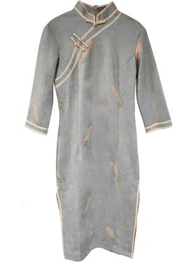 2020秋装新款法式复古中国风连衣裙