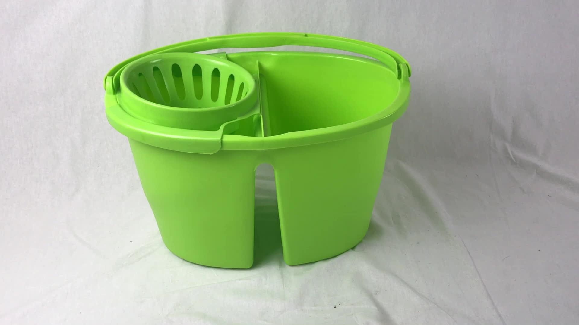 16L 絞り器クリーニングプラスチックモップバケツ