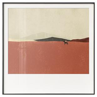 三小姐現代抽象風景玄關背景墻掛畫