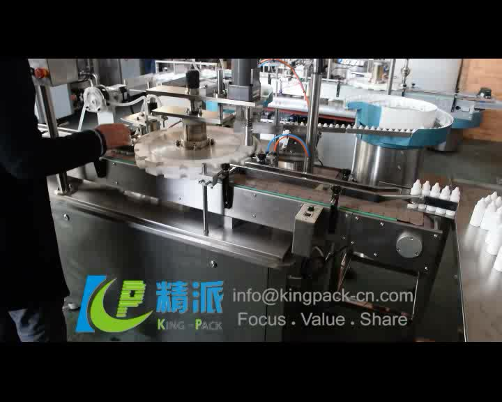 Manual plastic bottle capping machine with high speed, semi automatic filling machine for round bottles liquids