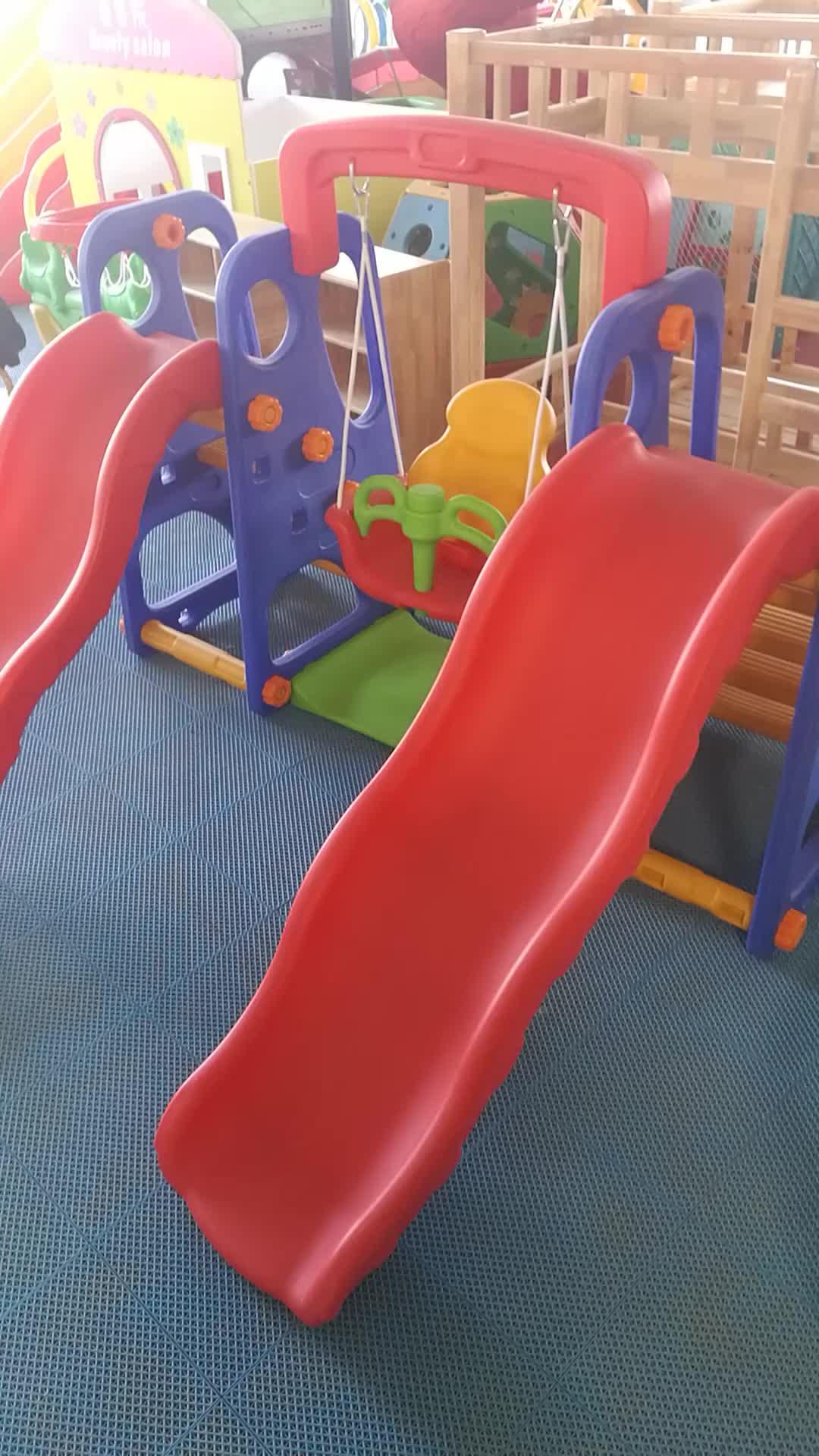 Hot selling playground indoor outdoor kids plastic slide set