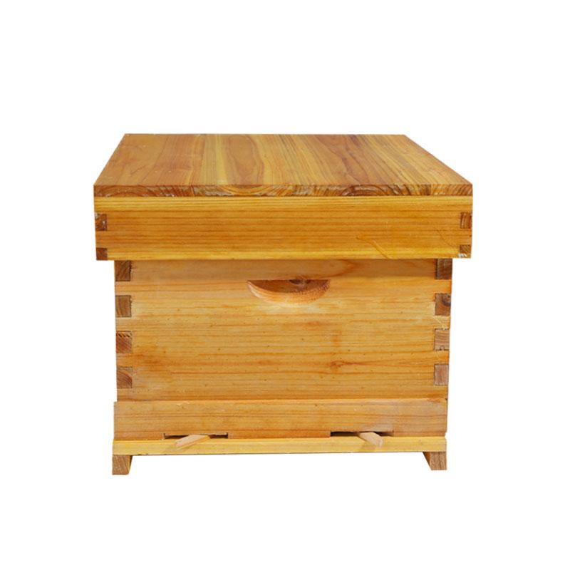 兰峰煮蜡杉木标准中蜂蜂箱密蜂具全套养蜂工具蜜蜂箱十框平箱专用