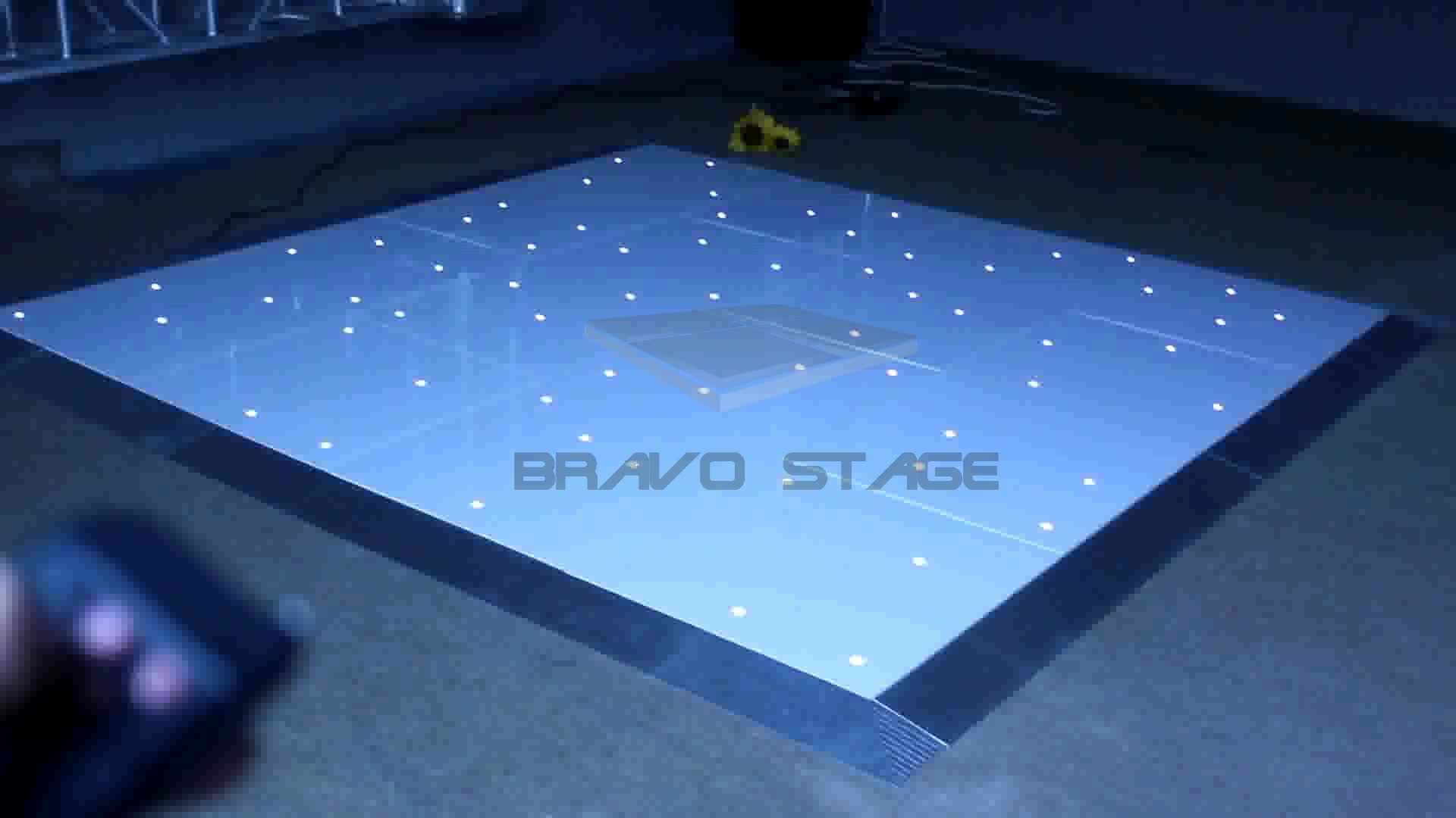 Glossy Portable Interactive Outdoor Led Dance Floor