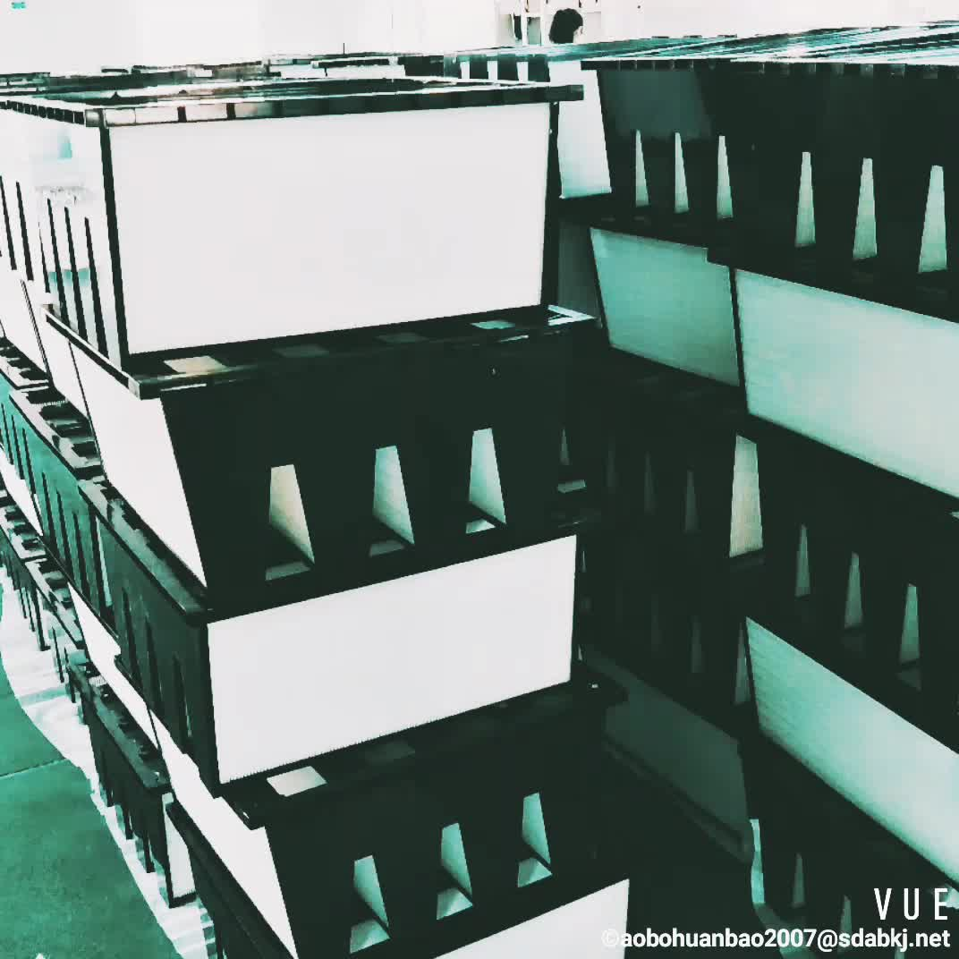 high capacity deep pleated aluminum foil separator air box disposable hepa filter