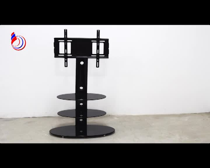 Fasion design silk screen tempered glass new lcd tv stand models