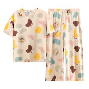 春秋款2021年新款纯棉短袖睡衣