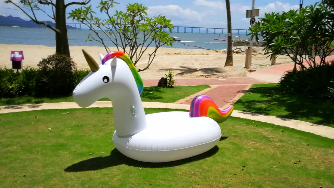 Cheap outdoor 7ft custom pvc giant inflatable unicorn pool for Cheap inflatable pool