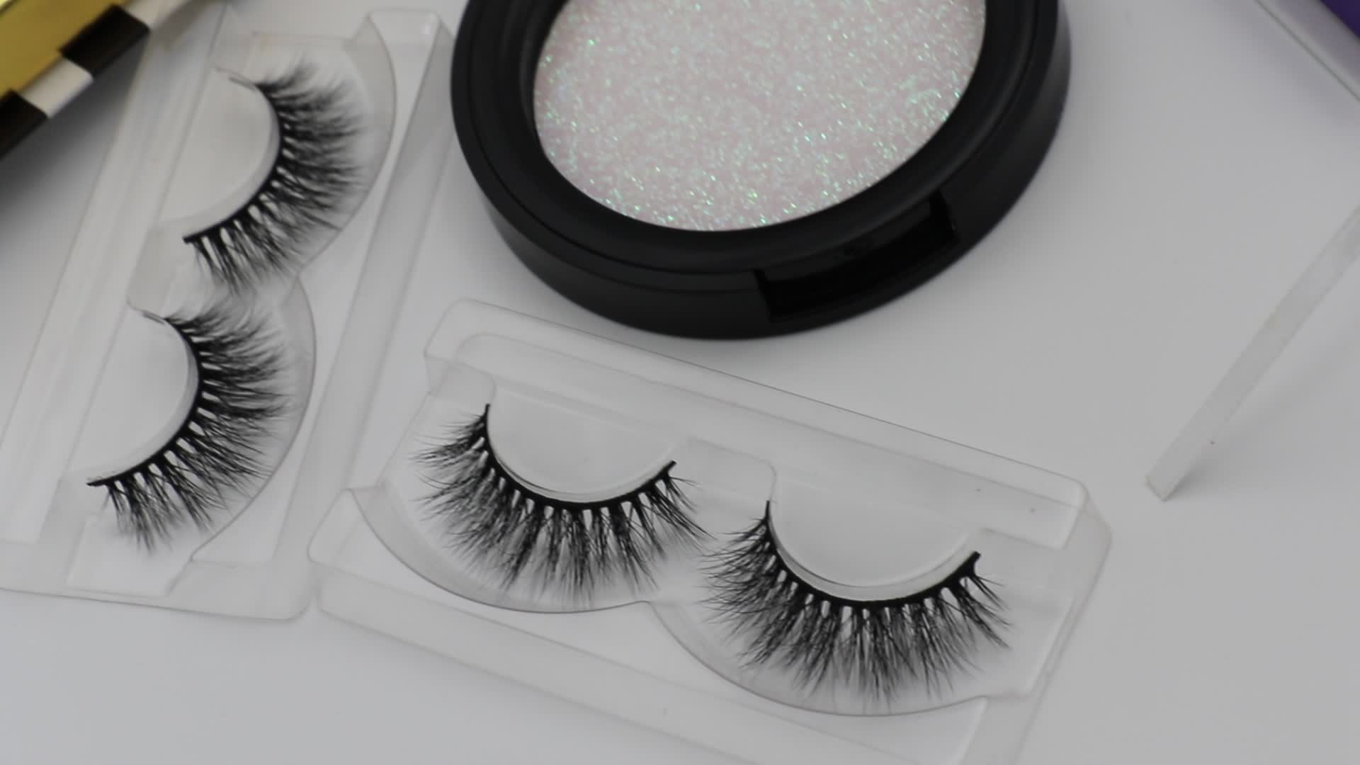 Factory Create Your Own Brand Eyelash Packaging Eyelashes Luxury Magnetic Box Customer Case
