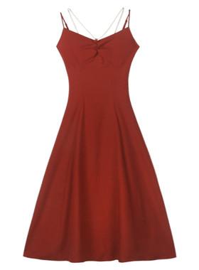 夜莺与玫瑰《尤莉安》吊带珍珠连衣裙