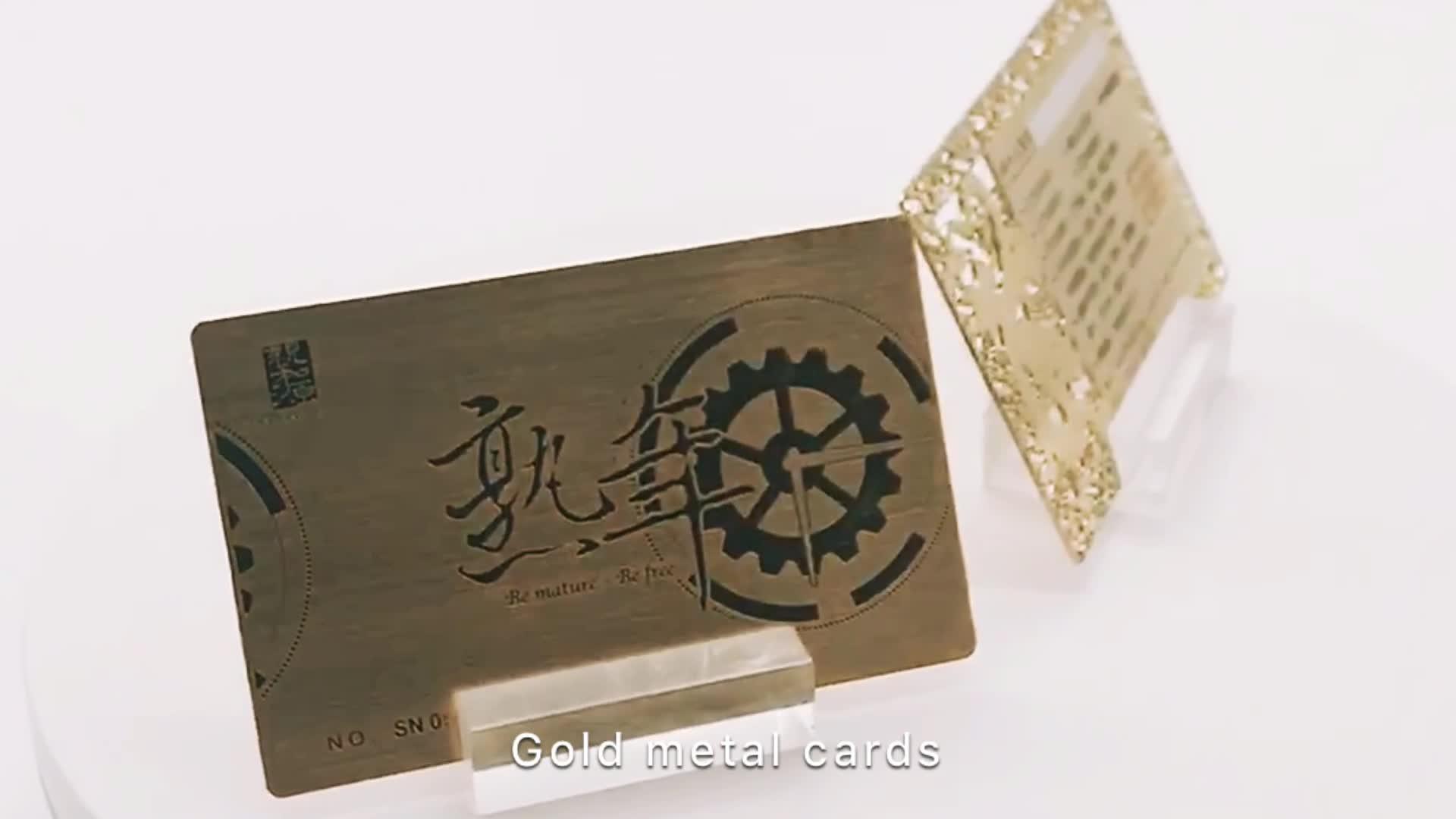 Vip Membership Silver Gold Metal Business Card - Buy Gold Metal ...