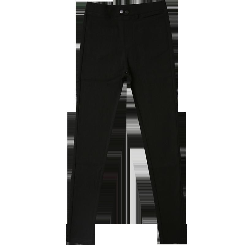 黑色裤子秋冬打底裤女外穿加绒九分小黑裤铅笔弹力小脚裤2018新款