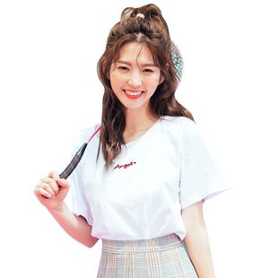 韩都衣舍2019夏装新款韩版女打底衫
