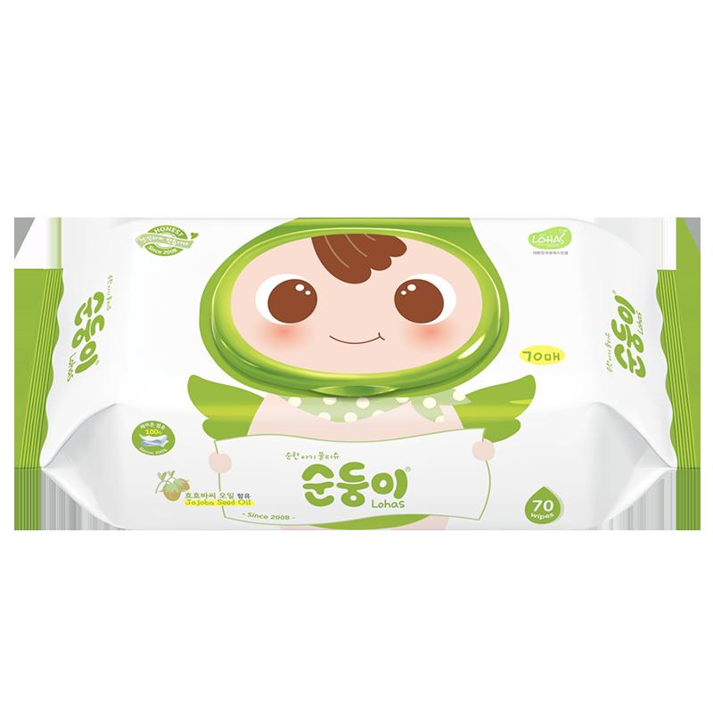 【顺顺儿】新生儿专用湿巾纸绿顺3包