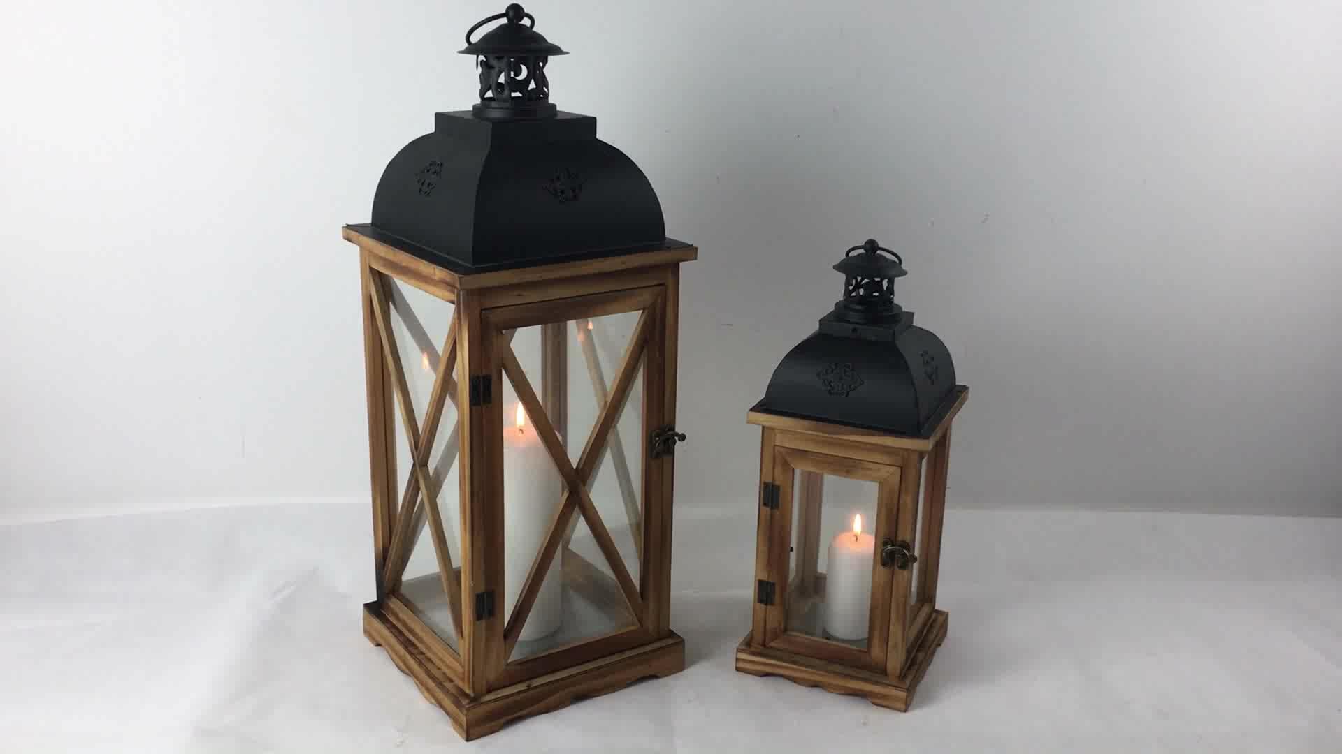 New European Style To Do The Old Wedding Wood Windproof Floor Lamp Ramadan  Lantern
