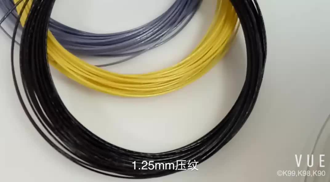 KELIST Qualità OEM Accettato 1.25mm 200 m Bobina Power Rough Oro Colore Giallo Tennis String