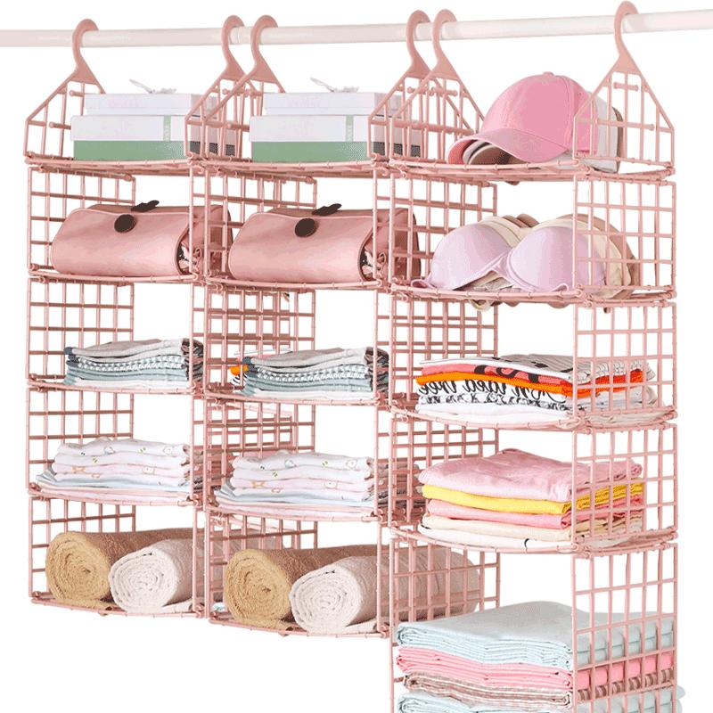 佳帮手宿舍神器寝室衣柜收纳架隔板分层架衣橱置物架整理挂篮衣架