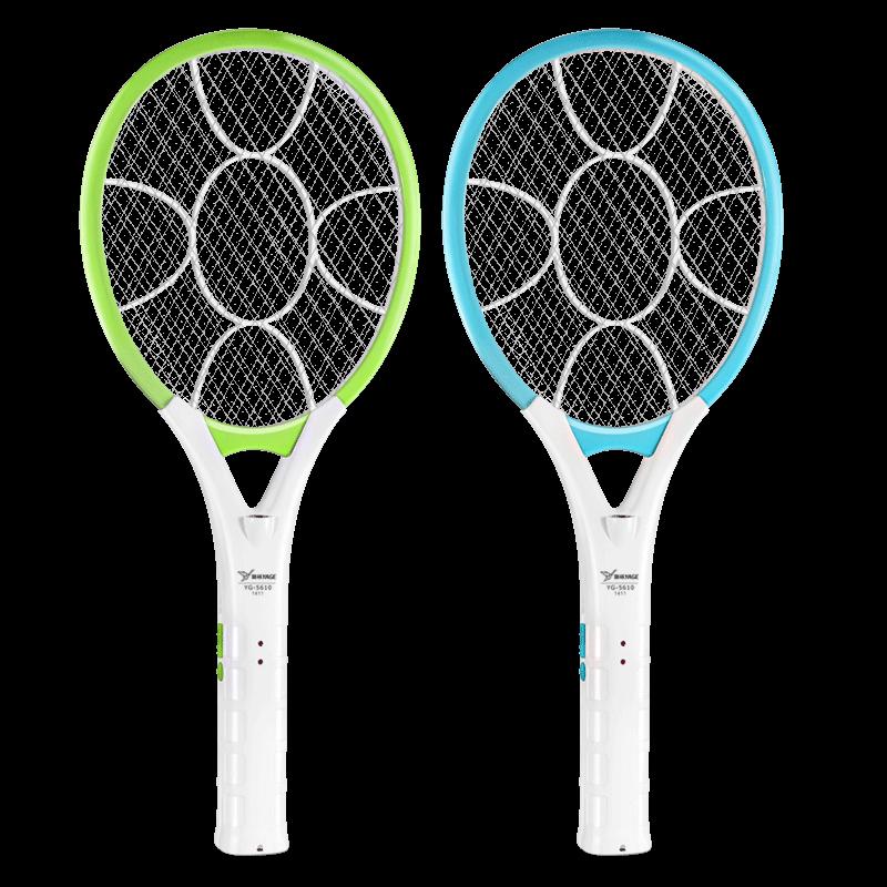 雅格电蚊拍充电式家用强力电文蚊拍超强灭蚊电蝇拍蚊子拍电苍蝇拍