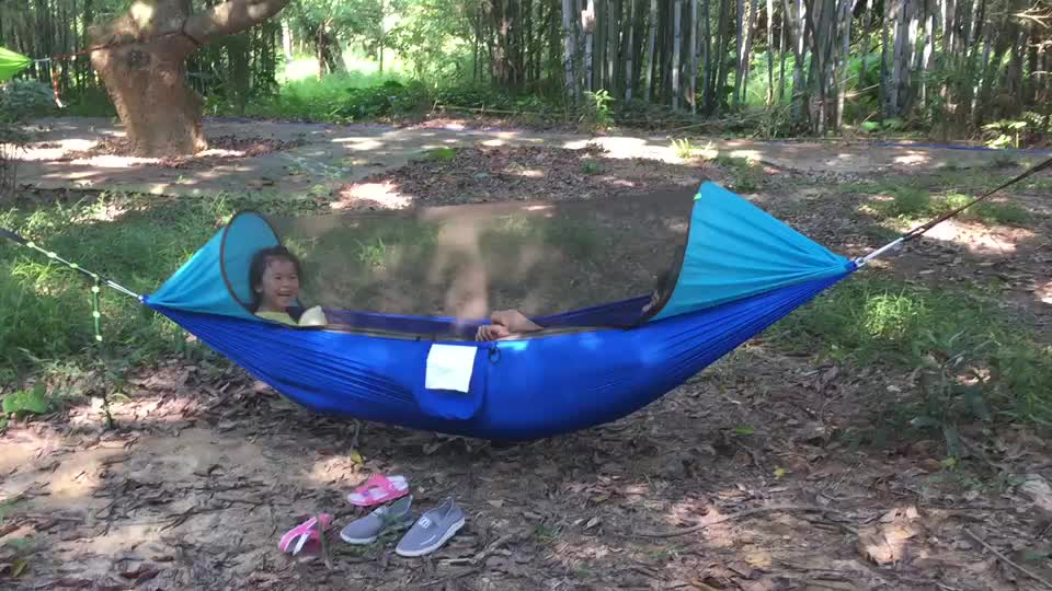 Nylon Ultralight Camping Hammock with bug net For Outdoor Travel Camping