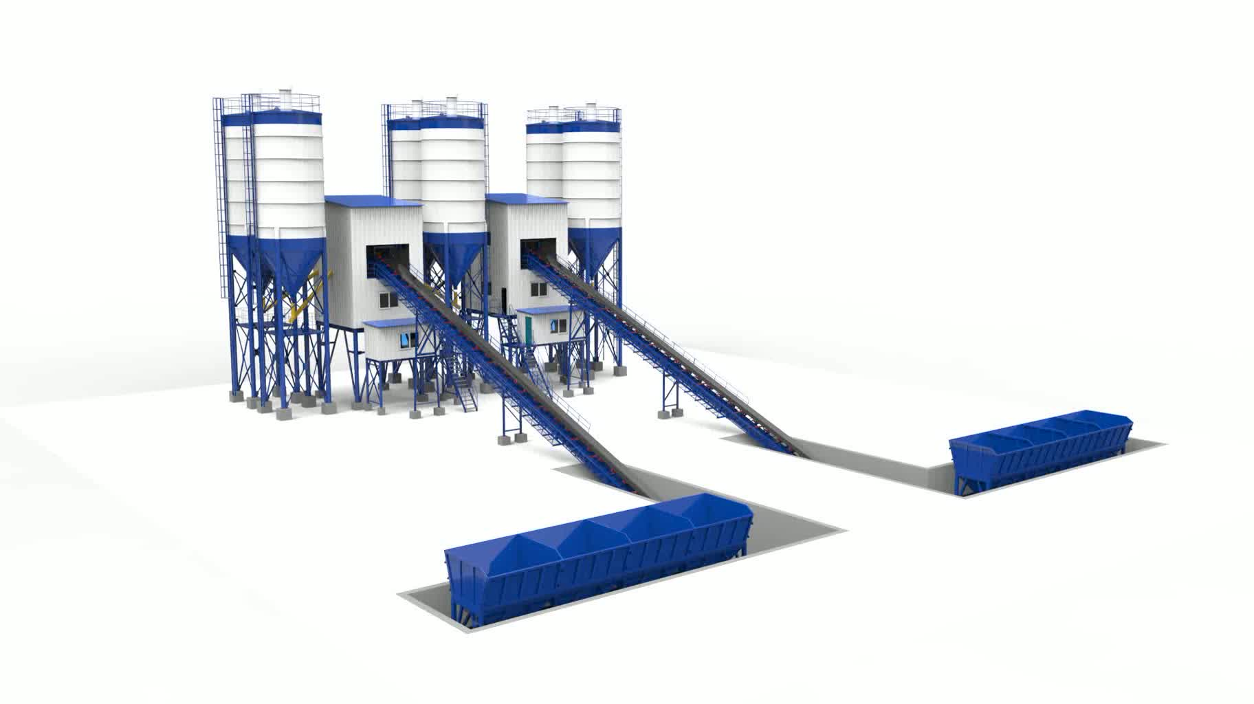 hot sale   HZS50 ready mixed concrete batching plant price for sale
