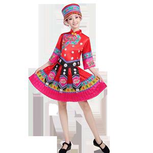 新款民族服装女苗族瑶族土家族舞蹈